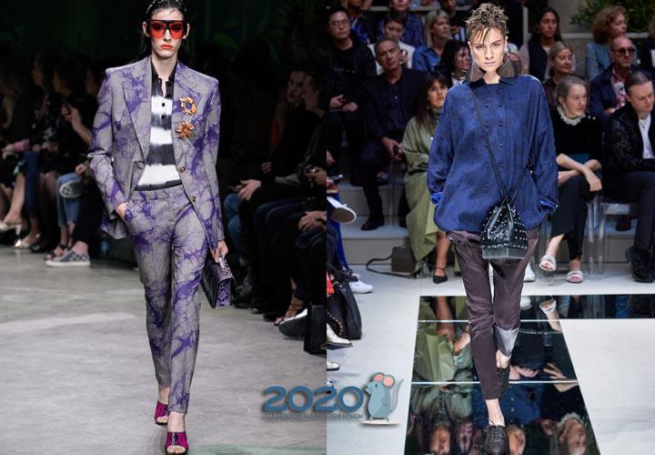 Модные узкие брюки скини весна-лето 2020