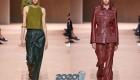 Модные кожаные брюки весна-лето 2020