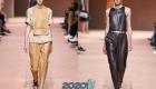 Модные брюки из кожи весна-лето 2020