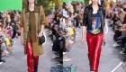 Модные красные брюки из кожи весна-лето 2020