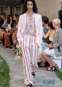 Модные брюки с разрезами весна-лето 2020