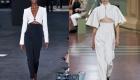 Высокая талия - модный тренд для брюк весны и лета 2020 года