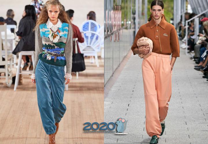 Брюки с манжетами - мода сезона весна-лето 2020