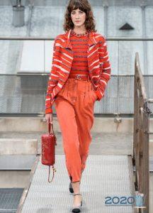 Модные джинсы Шанель весна-лето 2020