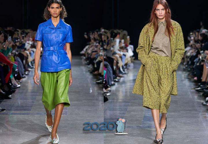 Модные кюлоты сезона весна-лето 2020