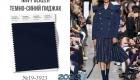 Модный оттенок Пантон на весну и лето 2020 года Темно-синий пиджак / Navy Blazer (№19-3923)