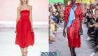 Огненный алый  модные цвета от пантон на 2020 год