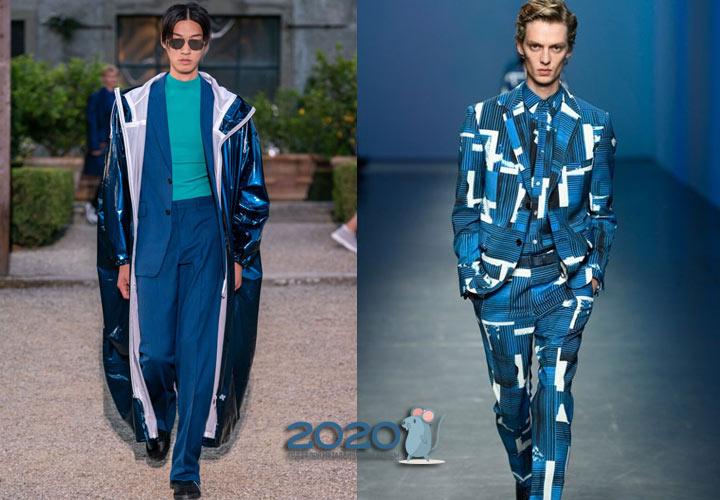 классический синий в мужской моде 2020 года