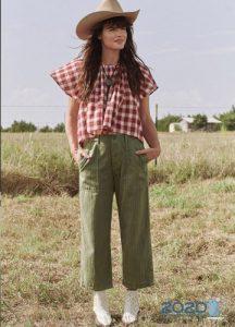 Модные зеленые джинсы сезона весна-лето 2020