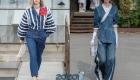 Модный моно-лук на основе денима - мода весны 2020 года