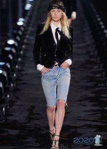 Удлиненные джинсовые шорты весна-лето 2020