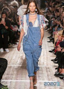 Модный джинсовый комбинезон для женщин весна-лето 2020