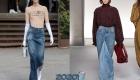 Длинные джинсовые юбки весны 2020 года