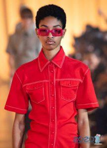 Модные очки с красной оправой весна-лето 2020