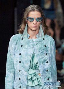 Модные очки с голубой оправой весна-лето 2020