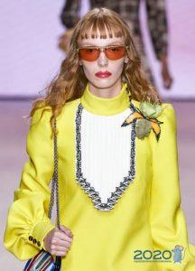 Модные очки с оранжевыми линзами весна-лето 2020