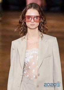 Модные очки с розовыми линзами весна-лето 2020