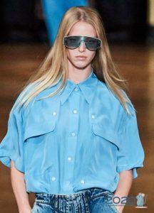 Модные очки с голубыми линзами весна-лето 2020