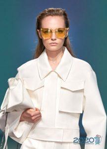Модные очки с желтыми линзами весна-лето 2020
