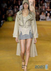 Модное пальто весна 2020 с экстравагантным кроем