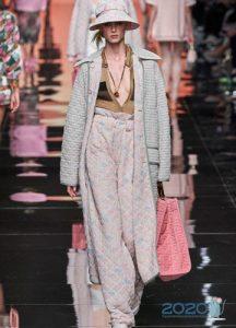 Модное пальто весна 2020 стеганое