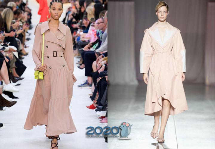 пальто-платье сезона весна-лето 2020