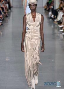 Блестящее платье весна-лето 2020
