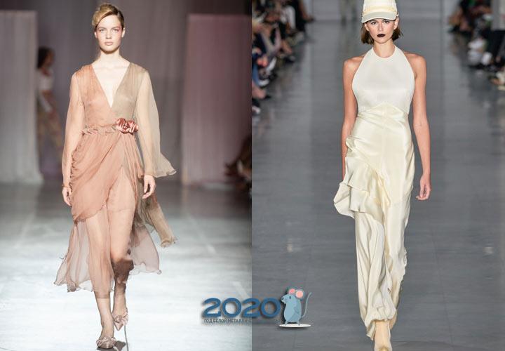 Модное пудровое платье весны 2020 года