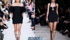 Короткое черное платье весна-лето 2020