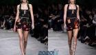 Модное черное платье с декором весна-лето 2020