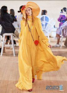 Длинное свободное платье - весна 2020