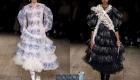 Модное платье с объемной юбкой и оборками сезон весна-лето 2020