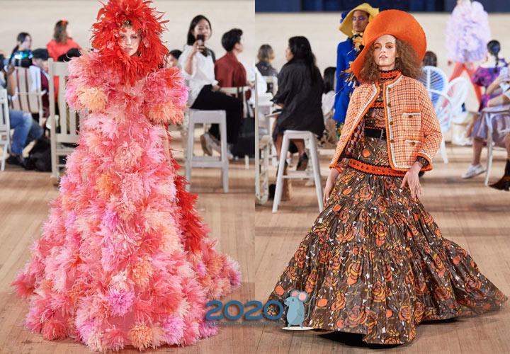 Объемные ретро юбки - вечерняя мода весны 2020 года