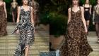 Модные анималистические принты на платьях весны 2020 года