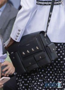 Кожаная сумка в стиле милитари - весна 2020