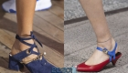 Модные туфли вены 2020 года с открытой пяткой