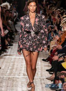 Цветочный принт - куртки весна-лето 2020