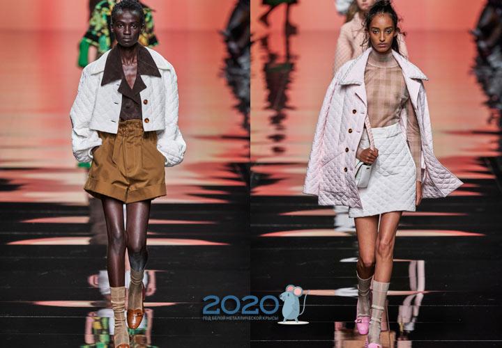 Стеганые куртки Фенди весна-лето 2020