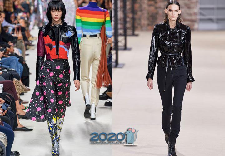 Трендовые кожаные куртки весны 2020 года