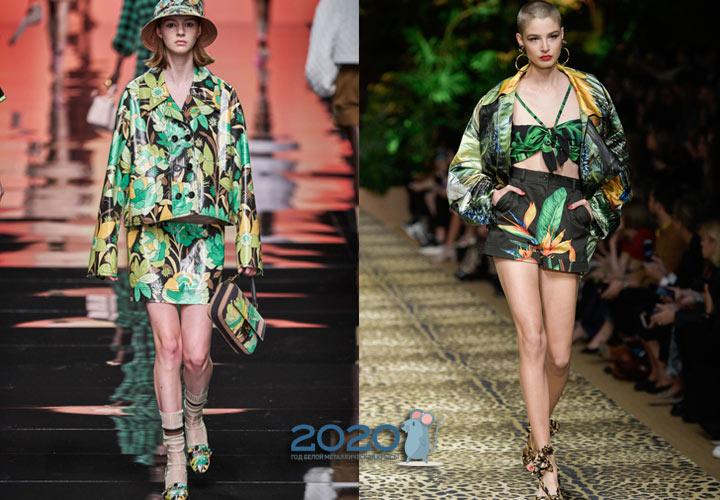 Модные куртки 2020 года с экзотическим принтом