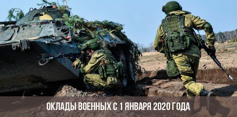 Оклады военнослужащих в 2020 году