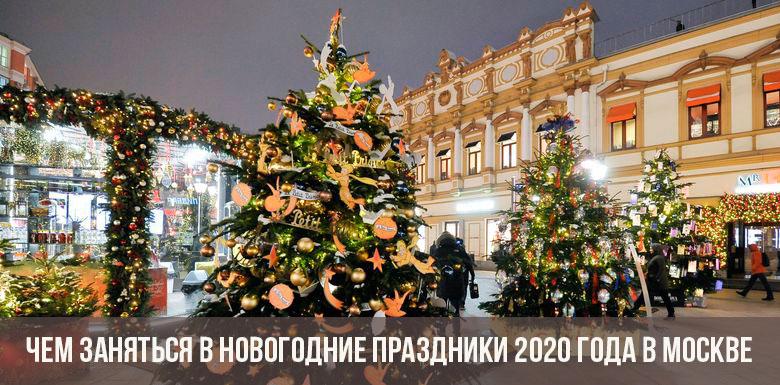 Чем заняться в новогодние праздники 2020 года в Москве