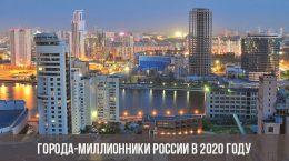 Города-миллионники России в 2020 году