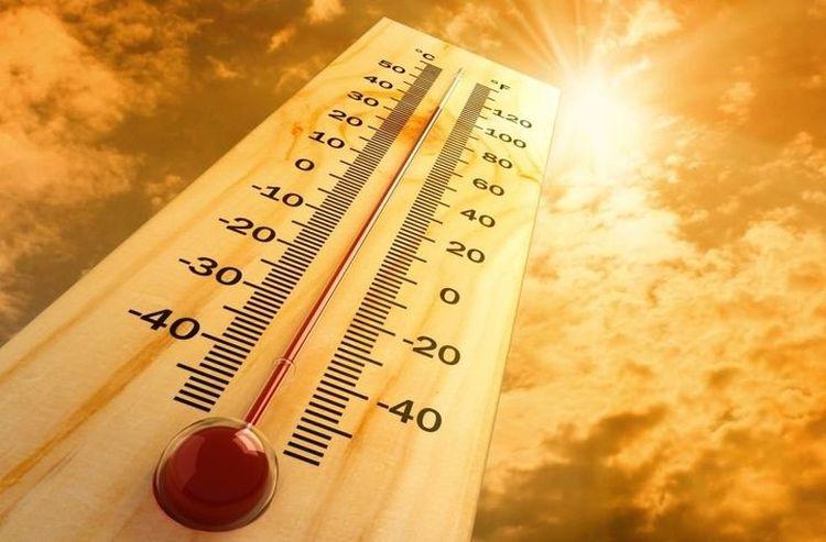 Высокая температура на термометре